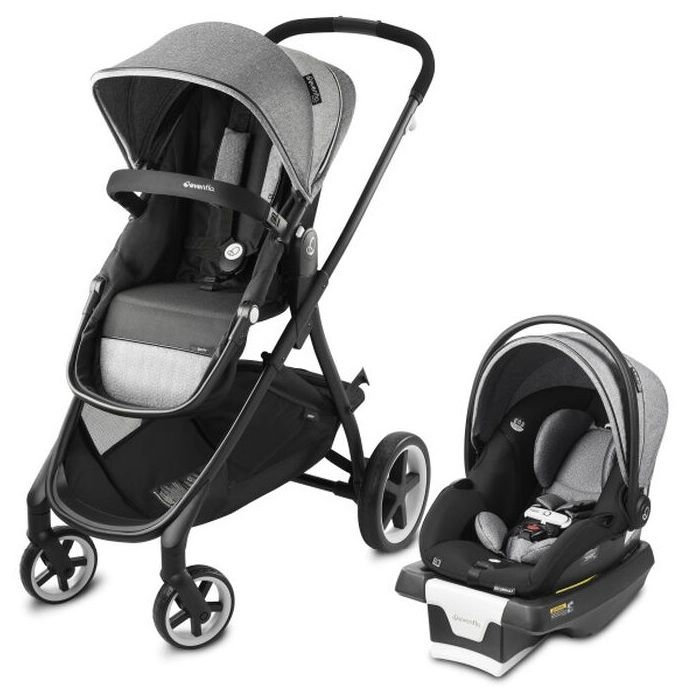 Коляска трансформер 2в1 Evenflo Travel System Shyft Gray в #REGION_NAME_DECLINE_PP#